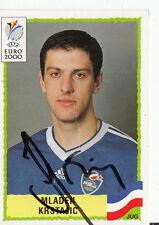 Mladen krstajic yugoslavia Panini sammelbild euro 2000 ORIG. sign. +a37261