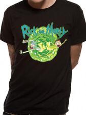 Official RICK AND MORTY - PORTAL black - unisex T Shirt - S M L XL XXL
