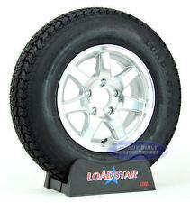 (2) Kenda Loadstar Trailer Tires ST 205/75D14 on 5 Lug Aluminum Wheels LRC