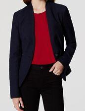 Ann Taylor LOFT Textured Collarless Blazer Jacket Size 00P, 0P, 2P, 6 Regular