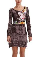 Desigual Vest Julieta S 10 M 12 RP£89 Black Jersey Dress Cirque du Soleil LtdEd