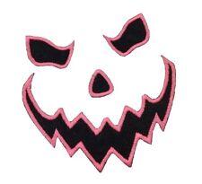 1 x Jack O'Lantern Halloween Scary Face H02 Sew 'n' Iron On Patch Motif