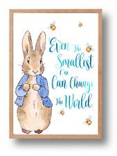 Even The Smallest One Peter Rabbit Beatrix Potter Nursery Wall Art Print, Baby