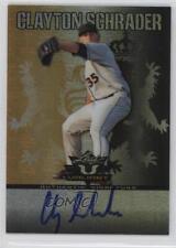 2011 Leaf Valiant Black #VA-CS2 Clay Schrader Auto Autographed Baseball Card