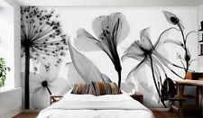 Dandelion Flowers Modern Wallpaper Wall Decals Wall Art Print Mural living room