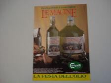 advertising Pubblicità 1989 OLIO LE MACINE CARAPELLI