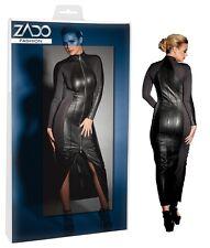 Abito lungo in pelle nera Zado Fashion Sexxx shop abbigliamento erotico Fetish