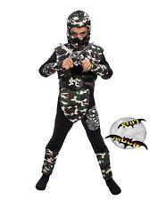 New Children's Camouflage Boys Ninja Costume