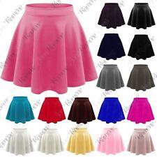 46d7bd7ae3 New Kids Girl Plain Flippy Flared High Waistband Stretch Short Mini Skater  Skirt