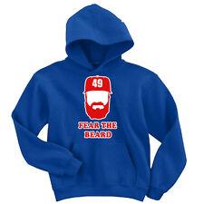 """Jake Arrieta Chicago Cubs """"Fear The Beard"""" Hooded SWEATSHIRT HOODIE"""