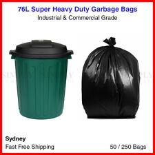 76L Garbage Bags Heavy Duty Kitchen Rubbish Bin Liners Large Plastic Bags Black