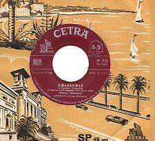 TONINA TORRIELLI disco 45 g. MADE in TALY Colpevole + Perderti SANREMO 1960