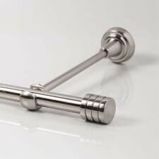 Edelstahl Look 110 - 600 cm Gardinenstange mit Deckenhalter Ø 20mm (Zylinder 3)