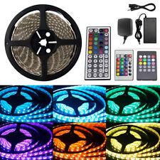 5/10/15/20M 5050/3528 RGB 300 LED Strip Lights Adapter IR Remote Waterproof 12V