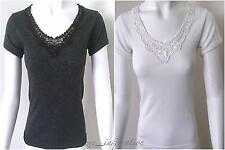 Ladies V Neck Merino Wool Short Sleeve Thermal Top  (Sz 10-22) 2 Colours