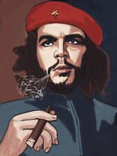 ERNESTO CHE GUEVARA CIGAR PRINT poster cuban cigar smoking beret havana partagas