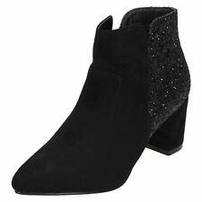 Anne Michelle F5R0690 Ladies Black Ankle Boots (R17B)