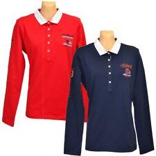 Poloshirt Damen LISA CAMPIONE Langarm Farben: Rot, Blau Größen: 38, 40, 42