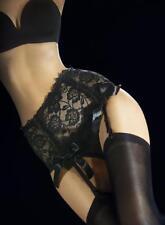 Porte jarretelle VESUVIO FIORE noir dentelle femme sexy 4 sangles T2 T3 T4 T5