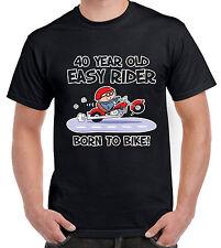 40 ANNO VECCHIO Easy Rider 40TH Compleanno T-Shirt-Regalo Biker Moto Bici
