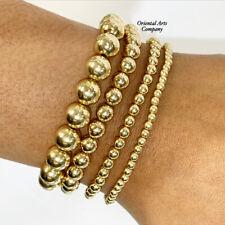 14K Gold Filled Beaded Stackable Bracelet