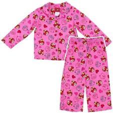 Angry Birds Girls Pink Button Down Fleece Pajama Set