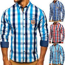 Freizeithemd Herrenhemd Hemd Shirt Kariert Slim Fit Herren BOLF 2B2 Classic