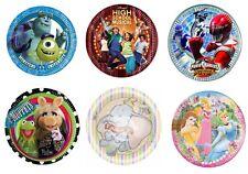 Disney Fiesta Cumpleaños Vajilla - Papel Comida Platos - Seleccione Sus TEMÁTICA
