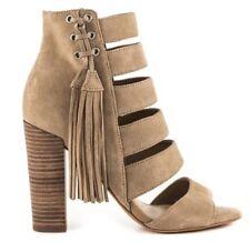 Women's Shoes GUESS BLASA Heels Sandals Shootie Tassel Suede Ivory