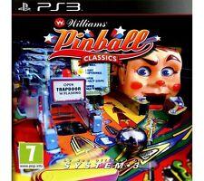 Williams PINBALL CLASSICS PS3 Playstation 3 ** Spedizione gratuita nel Regno Unito!!! **