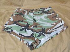 New Women's Vibrant MIU High Waist Camo Cheeky Booty Shorts Small Medium Large