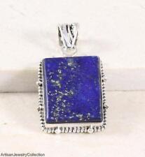 "LAPIS LAZULI & .925 Sterling Silver PENDANT ~1 3/4"""