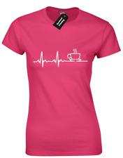 Café ECG EKG amante señoras Camiseta Gran Idea Regalo Divertido presente cafeína Meme