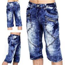 Trendy uomo Capri Jeans Bermuda Cargo Shorts Pantaloni Corti Vintage Short Chino de