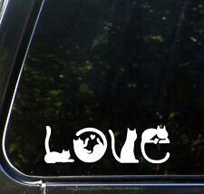 "CAR - Cats Spell LOVE - Vinyl Car Decal Sticker - Copyright © YYDC (6""w x 2""h)"