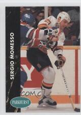 1991-92 Parkhurst #185 Sergio Momesso Vancouver Canucks Hockey Card