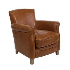 poltrona ecopelle pelle struttura legno di quercia design vintage poltrone sofà