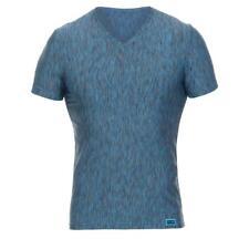 BRUNO BANANI hombre camiseta escote en V Alibi en Teal en S M L XL xxl- NUEVO