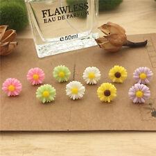 New Cute Elegant small Flower Plastic Stud Earrings