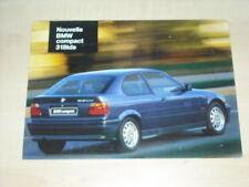 20238) BMW 318tds compact E36 Frankreich Prospekt 1995