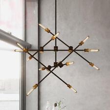 Modern 6/12 Lights Chandeliers Pendant Light Industrial Metal Ceiling Fixtures