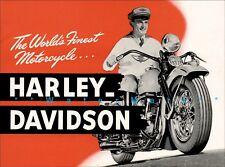 Motorcycle 1947 Harley Davidson Retro Advertising Vintage Poster Print Art