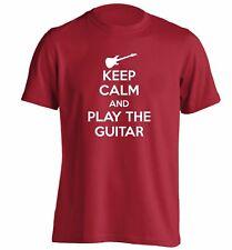 Keep calm guitar t-shirt music strum play lyrics electric acoustic funny 3980