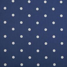 Dotty Denim Blu & Bianco A Pois PVC, wipeclean, vinile, tessuto incerato tablecloth