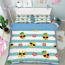 3D Cartoon Fruits 799 Bed Pillowcases Quilt Duvet Cover Set Single Queen King CA