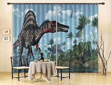 Undersea Beach Forest Zebra Dinosaur 3D Printing Blockout Fabric Window Curtains