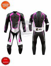 COURSE combinaison cuir hommes ou femmes MOTO GP avec violet revêtement