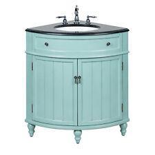 24� Benton Collection Thomasville Blue Slim Corner Bathroom Sink Vanity Gd-47555