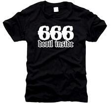 666 Devil Inside-caballeros-t-shirt, talla s hasta XXL