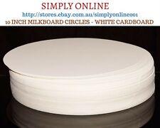 10 inch Milk board Circles  - Cake Board - White Cardboard - Milkboard